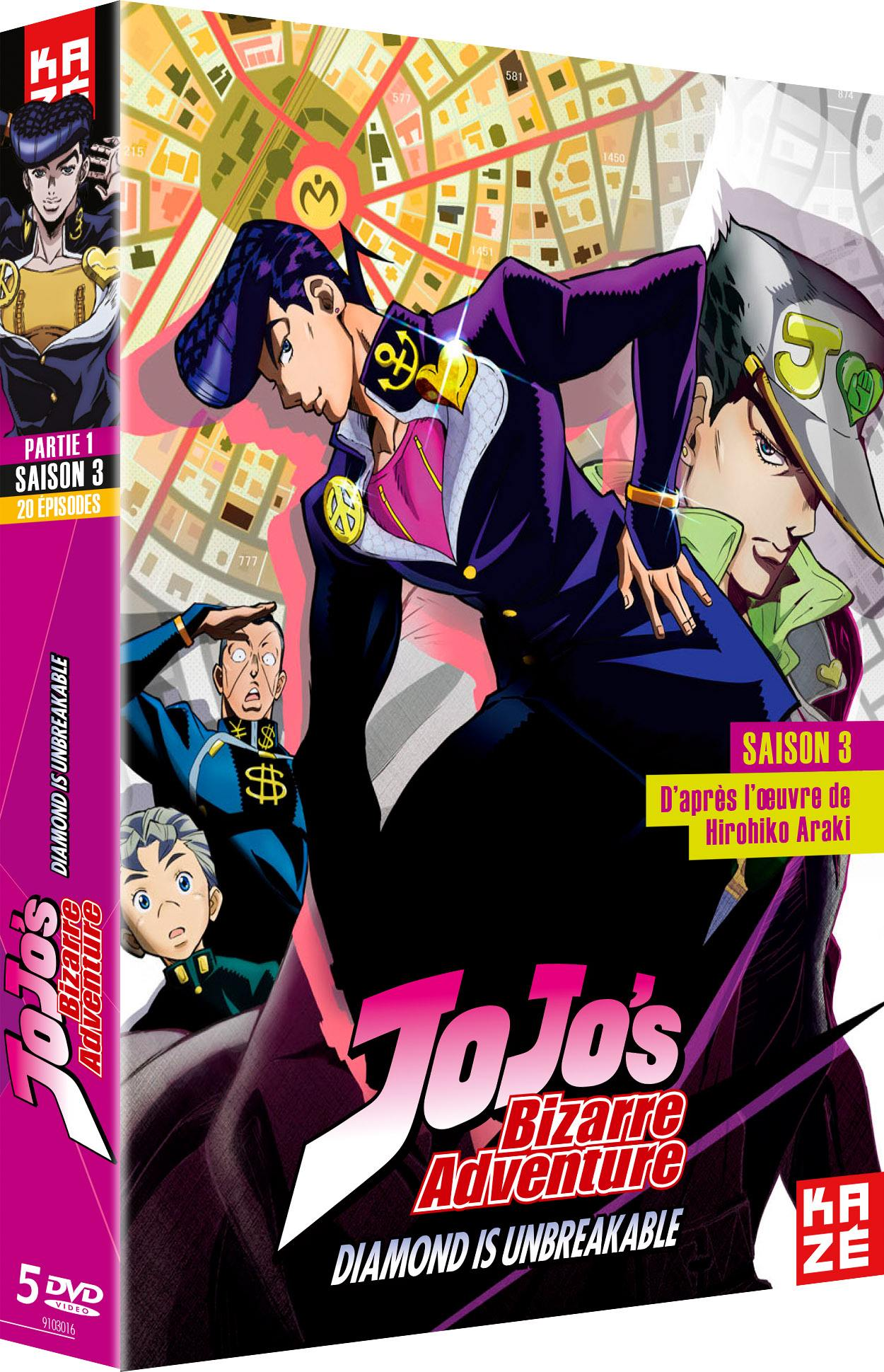 Jojo's bizarre adventure - s3 - diamond is unbreakable - partie 1 sur 2 - 5dvd
