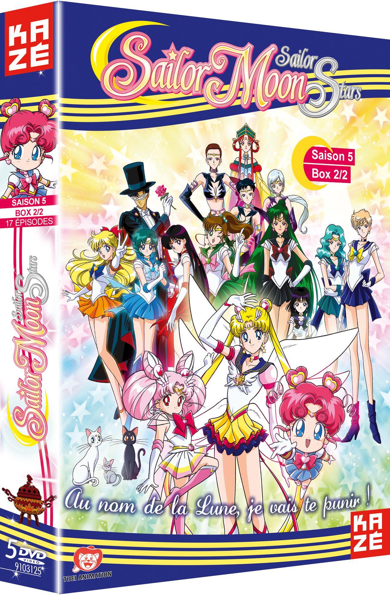 Sailor moon sailor stars - saison 5 - partie 2 sur 2 - 5 dvd