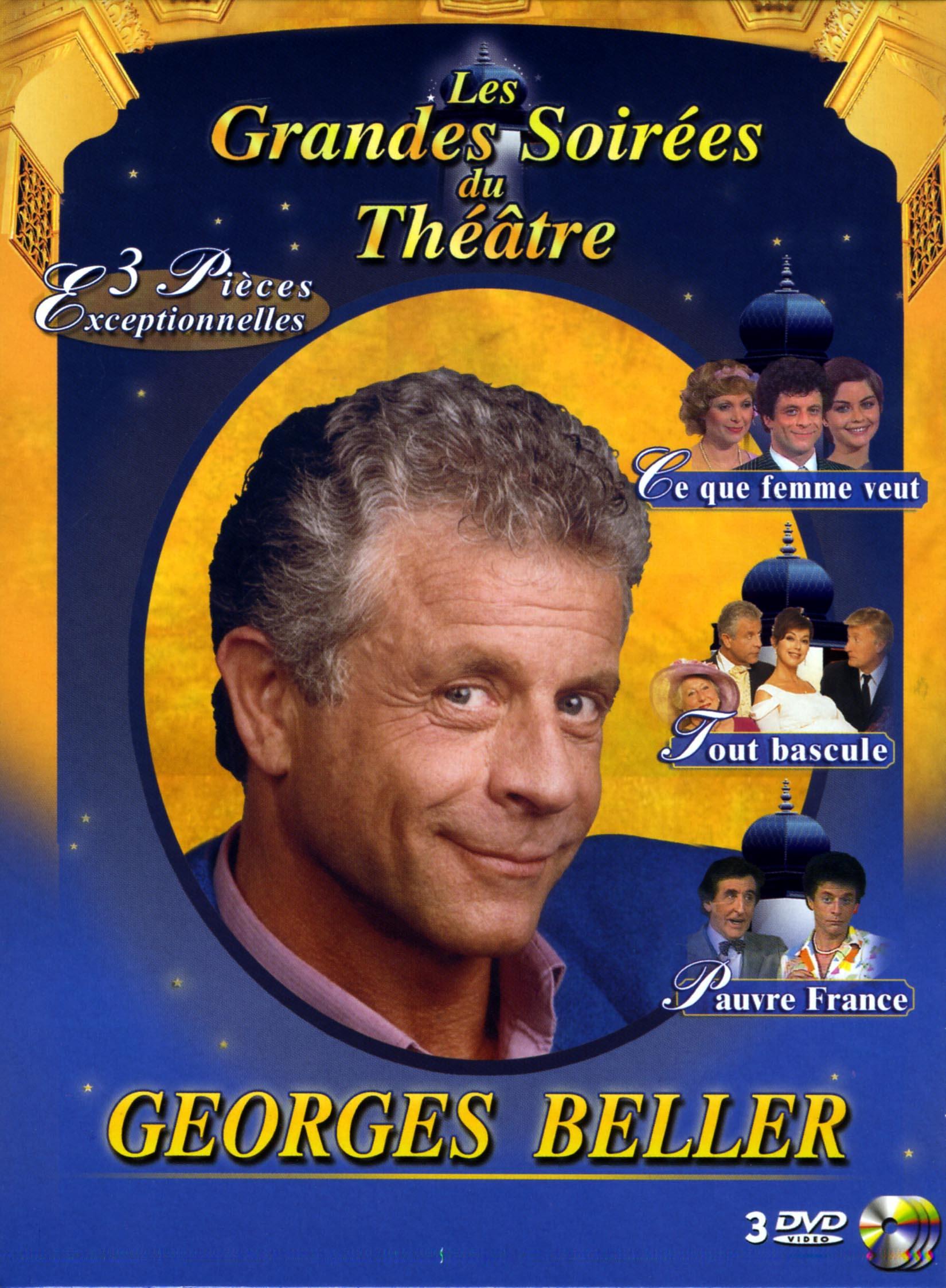 Coffret georges beller - 3 dvd  les grandes soirees du theatre