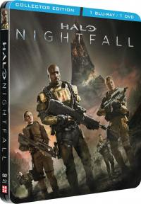 Halo - nightfall - le film - coffret collector steelbook - dvd + blu-ray