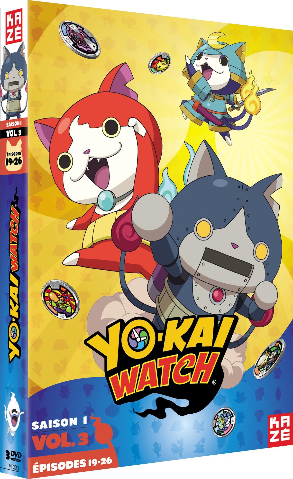 Yo-kai watch - saison 1 - partie 3 sur 3 - 3 dvd