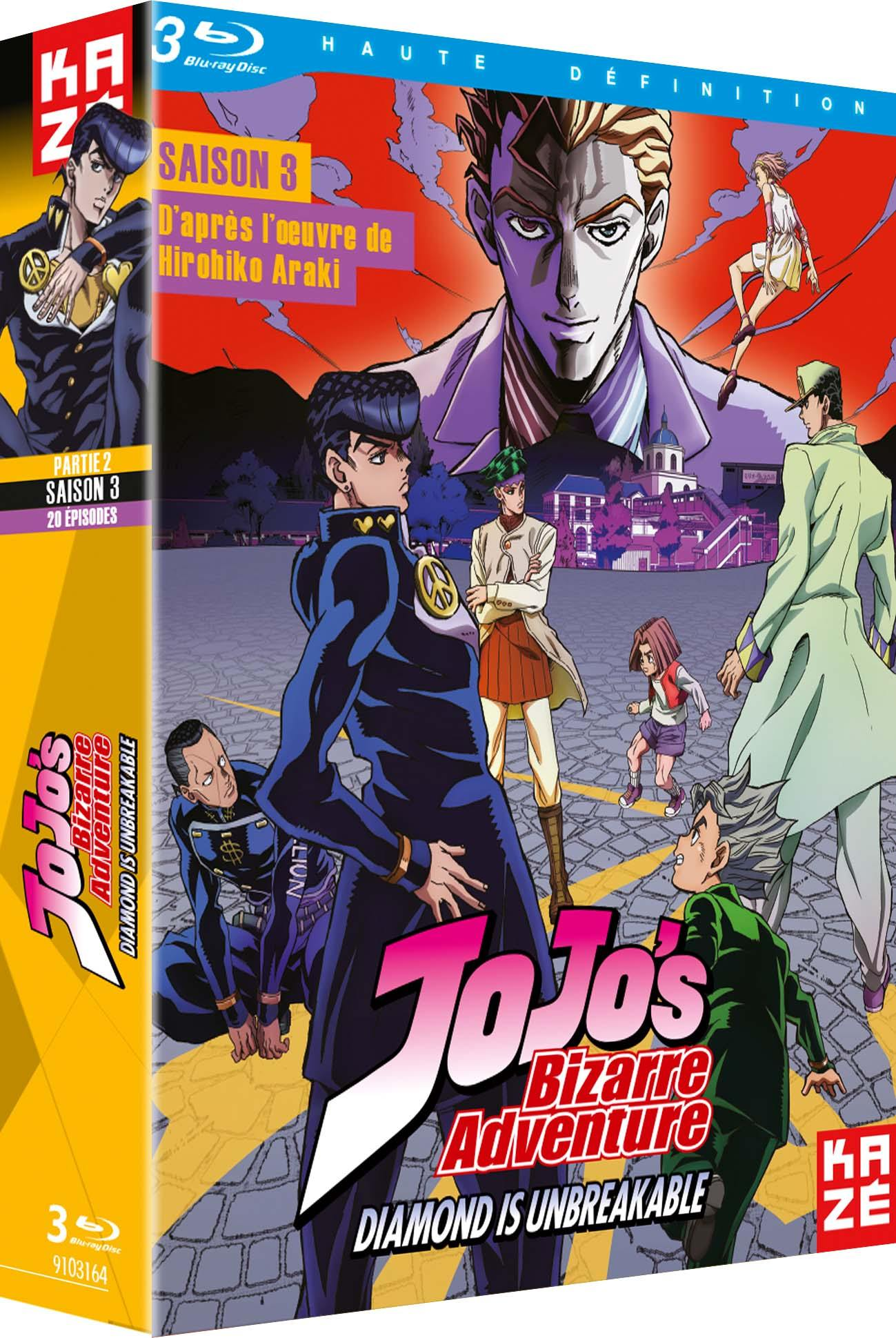 Jojo's bizarre adventure - saison 3 - diamond is unbreakable - partie 2 sur 2 -