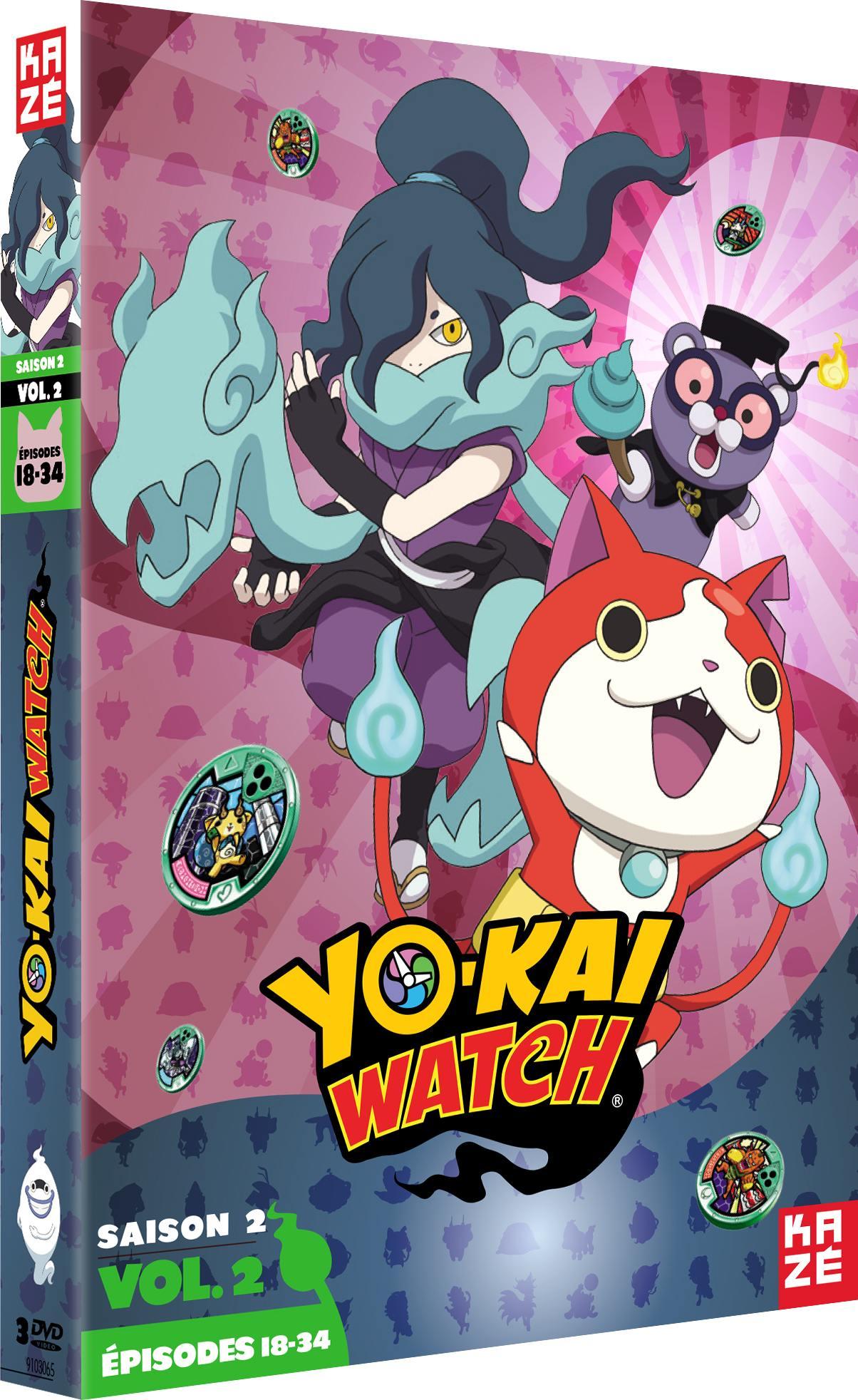 Yo-kai watch - saison 2 - partie 2 sur 3 - 3 dvd