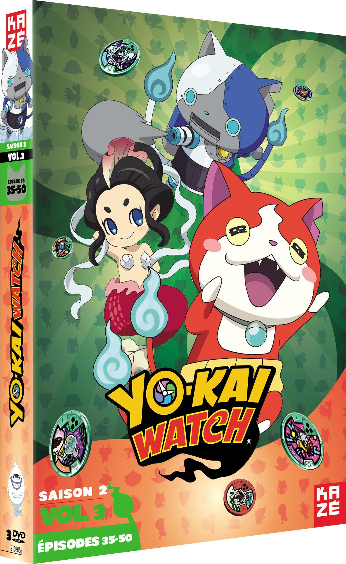 Yo-kai watch - saison 2 - partie 3 sur 3 - 3 dvd