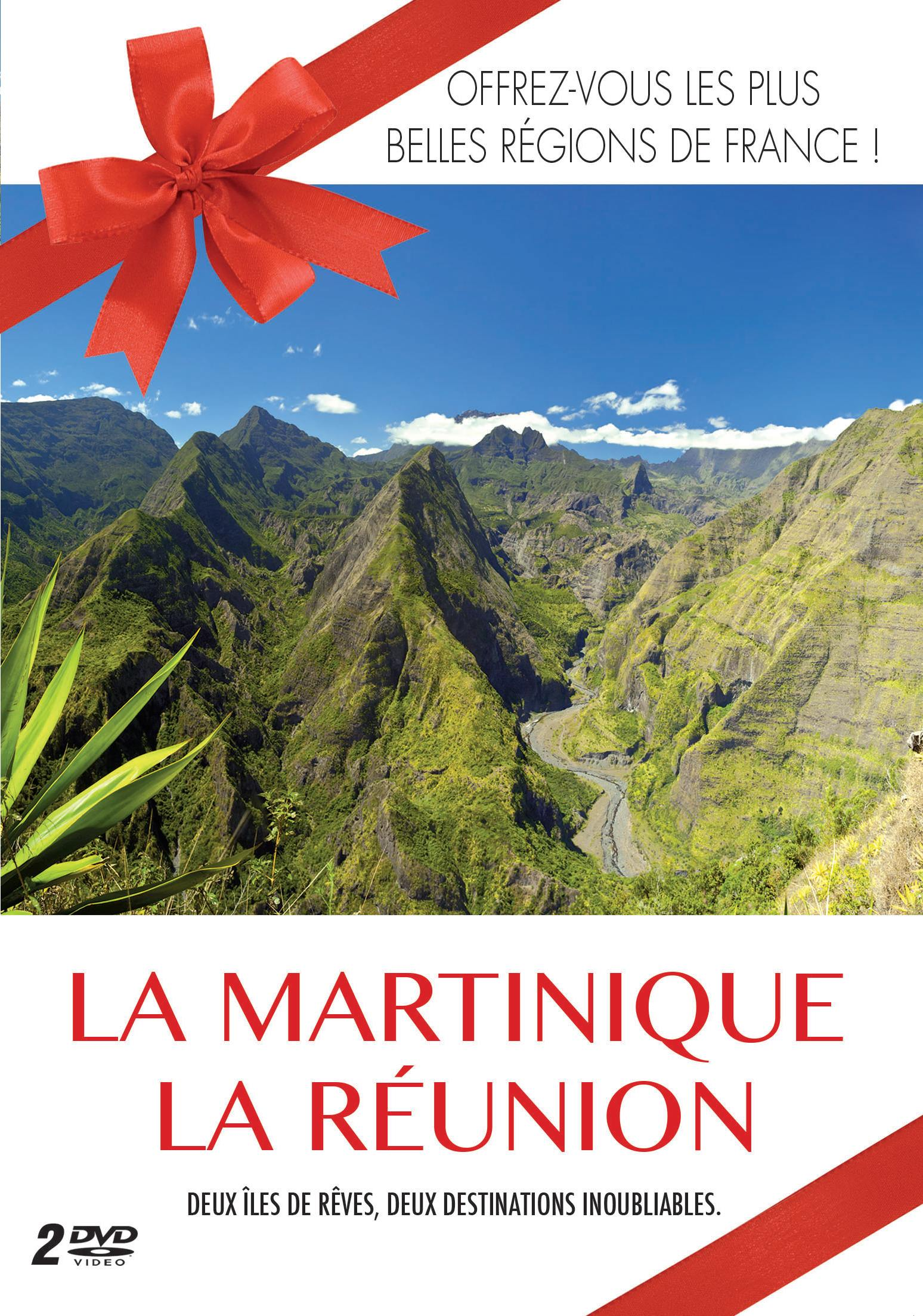 Martinique (la) + la reunion - plus belles regions - 2 dvd