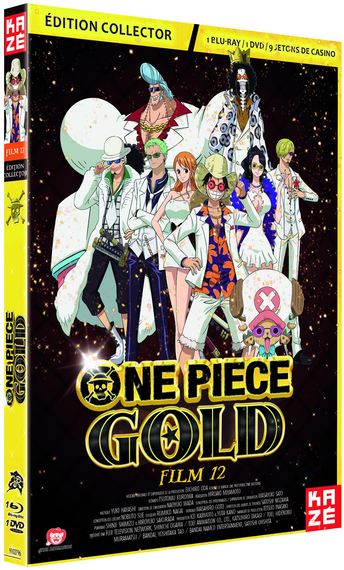One piece - film 12 - gold - coffret collector dvd + blu-ray