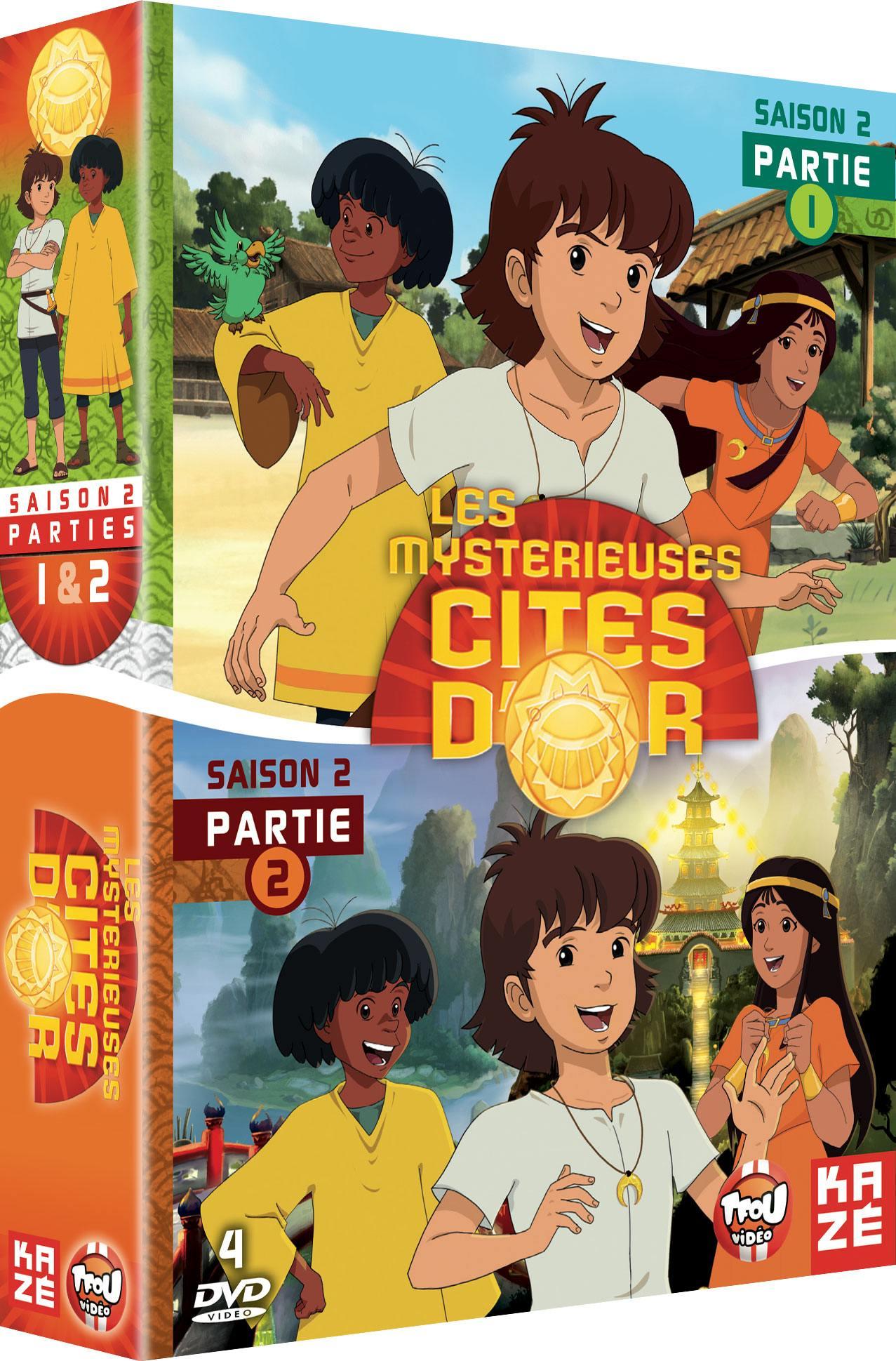 Mysterieuses cites d or (les) - saison 2 - partie 1 et 2 - 4 dvd - exclu sites m