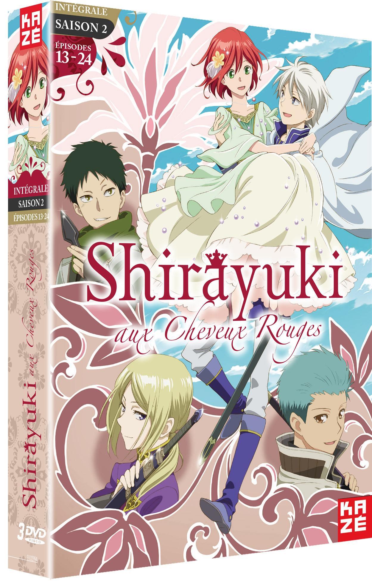 Shirayuki aux cheveux rouges - saison 2 - 3 dvd