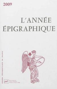 Année épigraphique (L'). n° 2009,