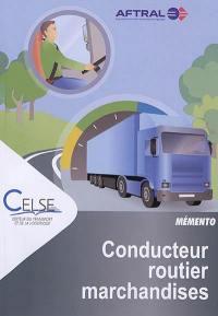 Conducteur routier marchandises