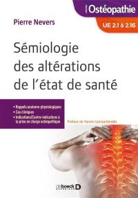 Sémiologie des altérations de l'état de santé