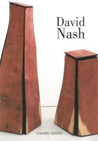 David Nash, black and red