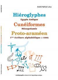Hiéroglyphes-Egypte antique, cunéiformes-Mésopotamie, proto-araméen-1re écriture alphabétique (-1800)