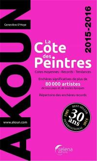 La cote des peintres 2015-2016