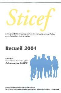 Ontologies pour les EIAH : recueil Sticef 2004