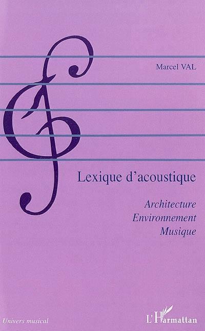 Lexique d'acoustique