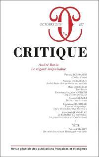 Critique. n° 857, André Bazin