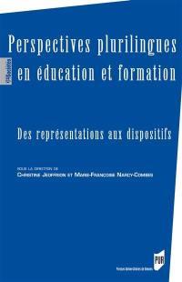 Perspectives plurilingues en éducation et formation