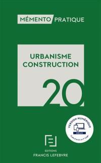 Urbanisme, construction 2020
