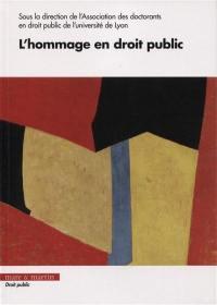 L'hommage en droit public
