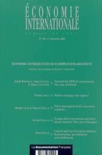 Economie internationale. n° 102, Economic consequences of European enlargement