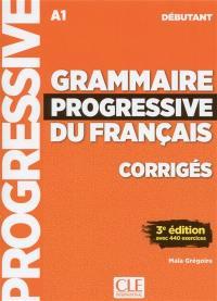 Grammaire progressive du français, corrigés