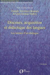 Discours, acquisition et didactique des langues