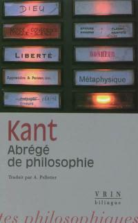Abrégé de philosophie ou Leçons sur l'encyclopédie philosophique