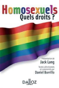 Homosexuels, quels droits ?