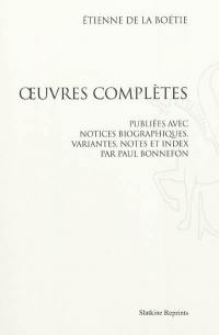 Oeuvres complètes