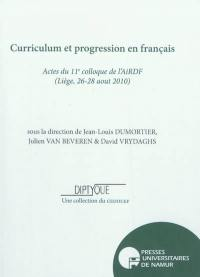 Curriculum et progression en français