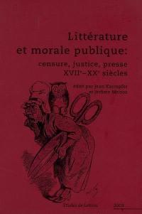 Etudes de lettres. n° 4 (2003), Littérature et morale publique