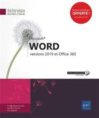 Word versions 2019 et Office 365