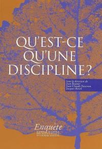 Qu'est-ce qu'une discipline ?