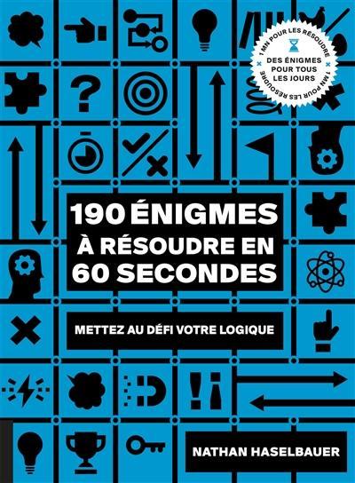 190 énigmes à résoudre en 60 secondes