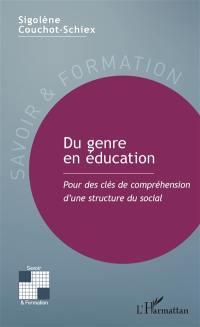 Du genre en éducation