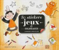 80 stickers jeux & coloriages