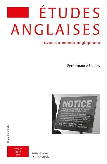 Etudes anglaises. n° 2 (2016), Performance studies
