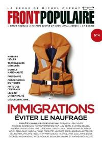 Front populaire. n° 4, Immigrations