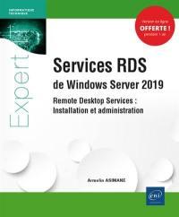 Services RDS de Windows Server 2019