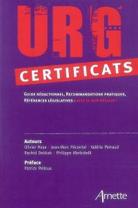 Urg'certificats