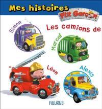 Les camions de Simon, Marcel, Léon, Alexis