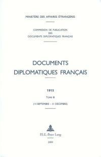 Documents diplomatiques français. Volume 3, 15 septembre-31 décembre
