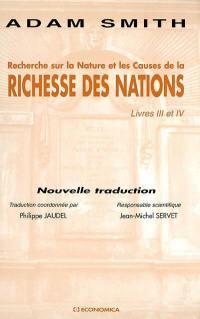 Recherche sur la nature et les causes de La richesse des nations