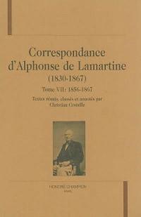 Correspondance d'Alphonse de Lamartine (1830-1867). Volume 7, 1856-1867