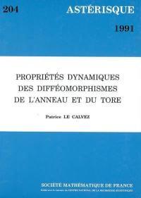 Astérisque. n° 204, Propriétés dynamiques des difféomorphismes de l'anneau et du Tore