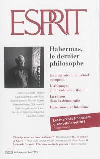 Esprit. n° 417, Habermas, le dernier philosophe