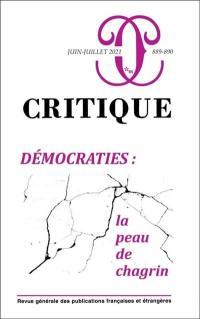 Critique. n° 889-890, Démocraties
