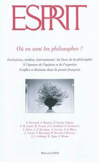 Esprit. n° 383, Où en sont les philosophes ?