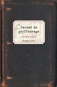 Carnet de griffonnage, Lettres & mots